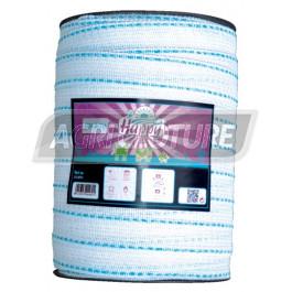 Ruban clôture 40 mm Fancy Tape Horizont couleur Turquoise Bobine 200 m