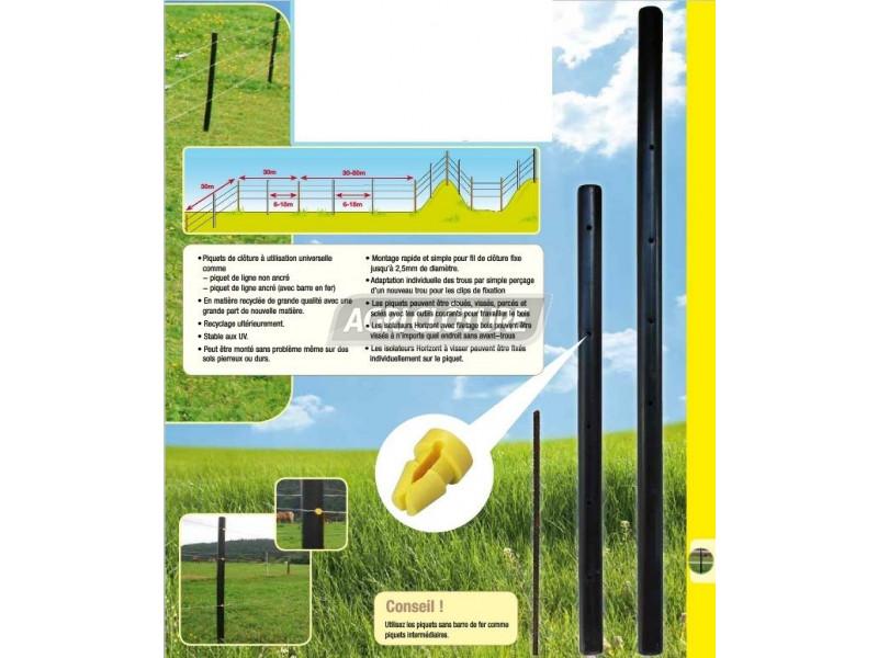 Tige m tallique h 60cm pour piquets cl ture permanente 14867 et 14868 horizo - Piquet metallique cloture ...