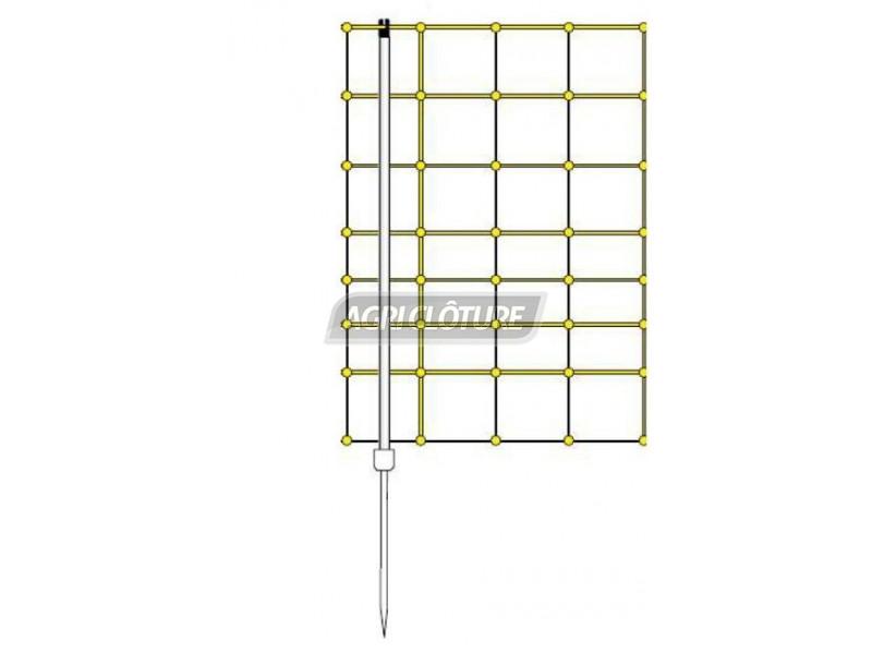 piquet h105cm simple pointe de rechange pour filet. Black Bedroom Furniture Sets. Home Design Ideas