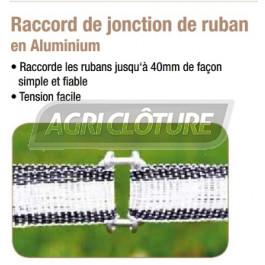 Raccord de jonction pour ruban de clôture électrique.(sachet de 10)