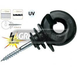 Isolateur annulaire de couleur Farmer IS-S  pour fils, cordes et ruban 12 mm Horizont. 24.000 volts