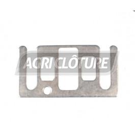 Plaque de jonction Inox pour ruban de 10 & 20 mm de large. (sachet de 5)