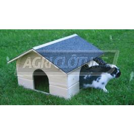 Maisonnette pour lapins 40x40x30cm