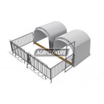 Kit grand igloo CalfHouse Premium 10 veaux avec clôture