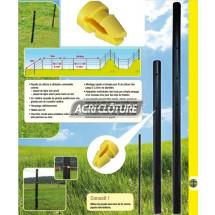 Isolateur easy clip pour piquet clôture permanente 14867 et 14868 en sachet de 100 pcs.