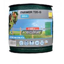 Ruban Farmer Horizont vert pour clôture Courte largeur 20 ou 40 mm