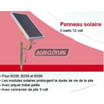 Panneau solaire 2 watts 12 volts avec support pour ADIC B200 & B300.