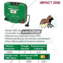 Electrificateur 2joules alimentation secteur 230v pour clôture IMPACT 2000
