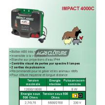 Electrificateur 4joules alimentation secteur 230v pour clôture IMPACT 4000C