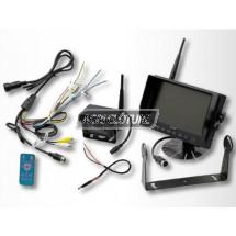 """Kit Horse Caméra 7"""" sans fils écran LCD couleur IP68 pour véhicule Remorque, Van, bétaillère Alimentation 12V ou 24V"""