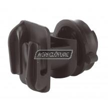 Isolateur ruban Allround pour fils ou rubans jusqu'à 200 mm à visser pour piquets rond métal ou fibre D 19mm
