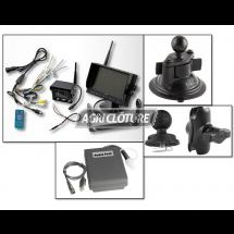"""Kit caméra de remorque avec moniteur 7"""" fixation par ventouse et caméra sans fils avec batterie, angle de vision 130° pour Vans, camping-cars, caravanes etc..."""