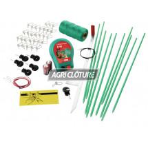 Kit clôture électrique sur secteur modèle Hobbyset avec piquets+fils