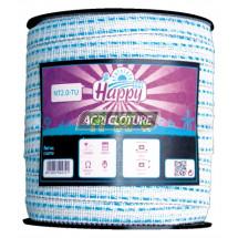 Ruban clôture 20 mm Fancy Tape Horizont couleur Turquoise Bobine 200 m