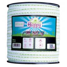 Ruban clôture 20 mm Fancy Tape Horizont couleur Vert clair Bobine 200 m